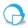 Blue pie chart icon